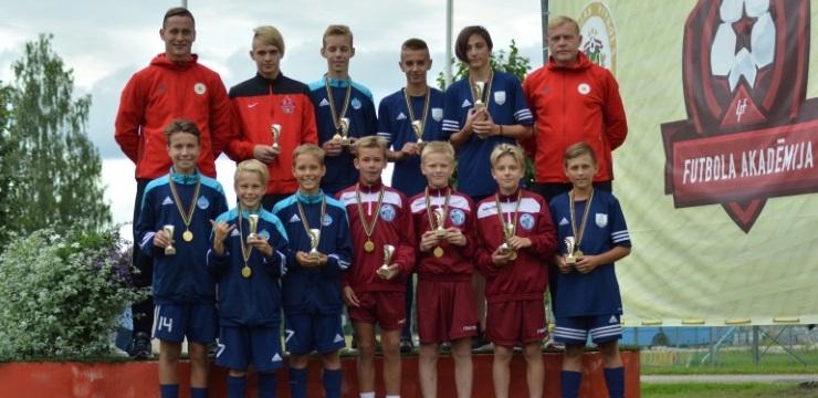 Jaunākie LFF Futbola akadēmijas dalībnieki atgriezušies no mācību-treniņu spēļu nometnes