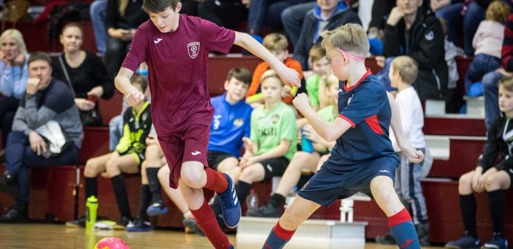 Startējis Rīgas kauss futbolā telpās zēniem
