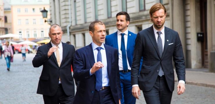 LFF vadība vienojusies par apjomīgu UEFA speciālistu atbalstu Latvijas futbola saimniecības sakārtošanai