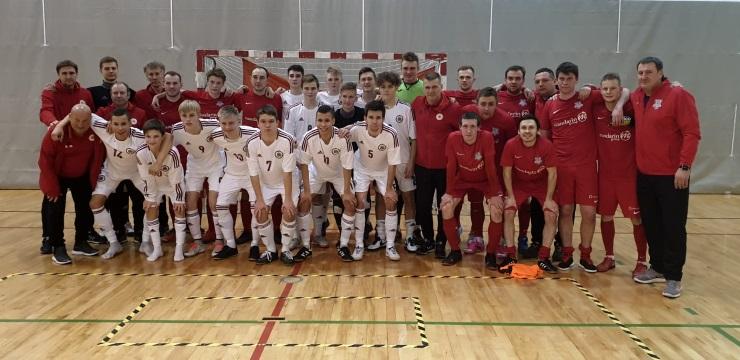 U-19 telpu futbola izlase pārbaudes spēlē uzvar TFK Salaspils komandu