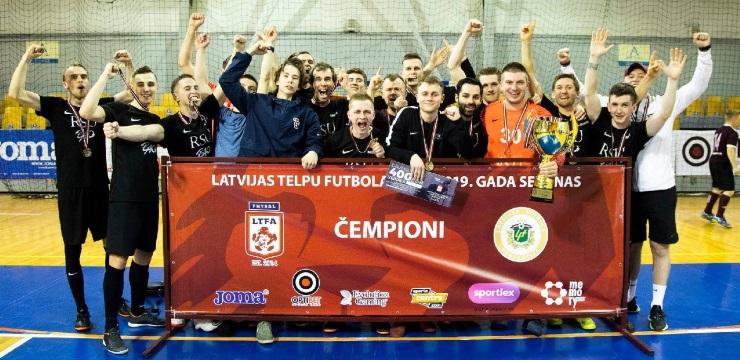 RSU/BAO-Dobele telpu futbolisti uzvar 1. līgā