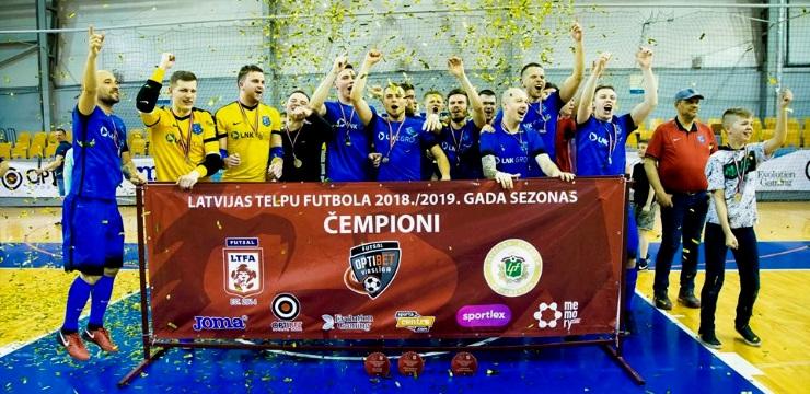 FK Nikars saglabā vietu telpu futbola čempionu tronī