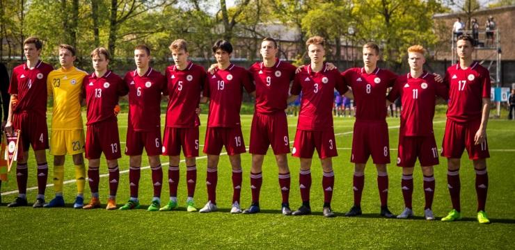Latvijas U-17 izlase pamatlaikā spēlē neizšķirti ar Kosovu