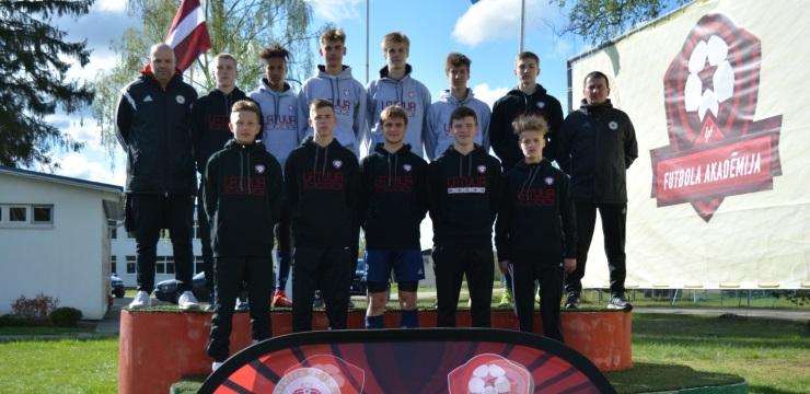 U-15 talantiem mācību-treniņu spēles LFF Futbola akadēmijā