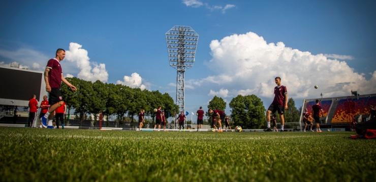 Foto: Izlases noslēdzošais treniņš pirms spēles pret Izraēlu