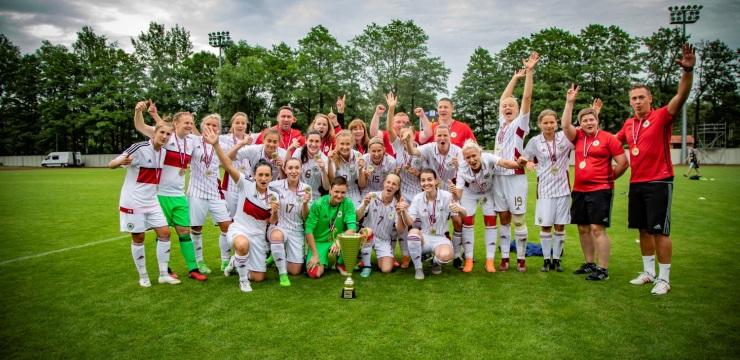 Sieviešu izlase trešo gadu pēc kārtas uzvar Baltijas kausā!