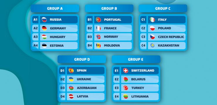Pludmales futbolisti PK kvalifikācijā pret Spāniju, Ukrainu un Azerbaidžānu