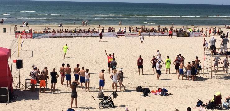 Liepājā notiks Latvijas kausa izcīņa pludmales futbolā
