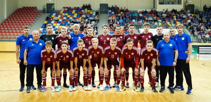 U-19 telpu futbolistiem Daugavpilī neizšķirts pret Turciju