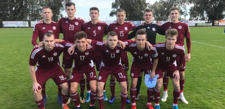 Latvijas U-19 izlase cīnās neizšķirti ar Slovākiju