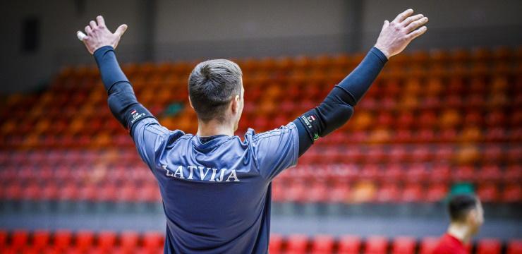 Mediju akreditēšanās Latvijas telpu futbola izlases spēlei pret Šveici