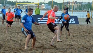 Nedēļas nogalē notiks Latvijas pludmales futbola čempionāta fināls