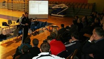 Aizvadīts seminārs par futbolistu morfoloģisko un funkcionālo īpašību novērtēšanu
