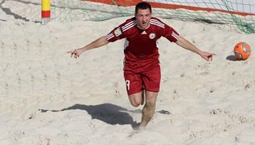 Latvijas pludmales futbola izlase divās pārbaudes spēlēs tikās ar Igauniju