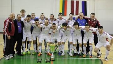 Latvijas telpu futbola izlase šonedēļ dosies uz Lietuvu aizstāvēt Baltijas čempionu titulu