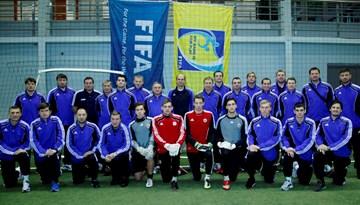 Vārtsargu treneri mācās C-LFF seminārā Slovākijas instruktora vadībā