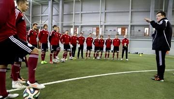 Latvijas U-21 futbola izlase uzsākusi treniņnometni pirms Sadraudzības kausa izcīņas