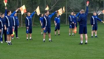 Latvijas futbola tiesneši jaunajai sezonai gatavojas Turcijā