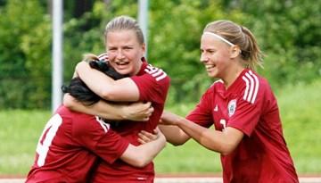 SFL klubu izlase izcīna uzvaru Līnas Jakimovičas atbalstam veltītajā spēlē Daugavpilī