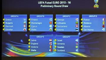 2016.gada UEFA EČ kvalifikācijā Latvijas telpu futbola izlase tiksies ar Angliju, Andoru un Maltu