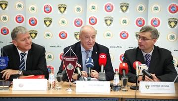 Valsts policija, LFF un UEFA 24.oktobrī rīkoja kopīgu preses konferenci (VIDEO)