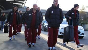 Latvijas nacionālā futbola izlase uzsākusi treniņnometni Nīderlandē