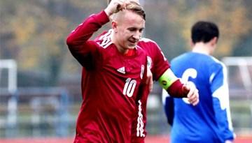 Latvijas U-18 jauniešu futbola izlase pārbaudes spēlē Marijampolē pārspēj Lietuvu