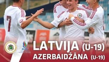 Latvijas U-19 izlase Liepājā aizvadīs pārbaudes spēles ar Azerbaidžānu