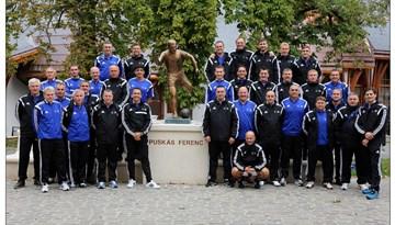 Latvijas futbola treneri un speciālisti Ungārijā piedalījās UEFA Study Group Scheme seminārā
