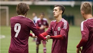 """Latvijas U-21 futbola izlase pārbaudes spēlē pārspēj BFC """"Daugavpils"""""""