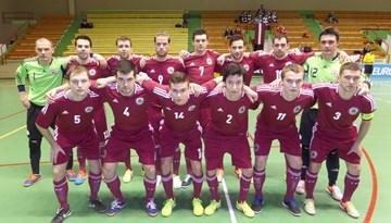 """Latvijas telpu futbola izlase """"EURO 2016"""" kvalifikāciju uzsāk ar uzvaru pār Andoru"""