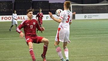 """Latvijas U-17 futbola izlasei otrā uzvara """"Attīstības Kausā"""" Minskā"""