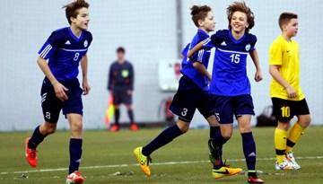 Ar Rīgas U-14 futbolistu panākumu noslēdzies otrais LFF Futbola akadēmijas reģionu izlašu ziemas turnīrs