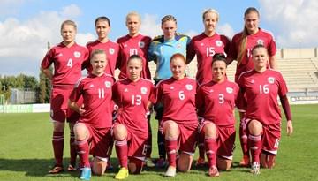 """Latvijas sieviešu futbola izlase izcīna otro panākumu """"Aphrodite Cup"""" turnīrā Kiprā"""
