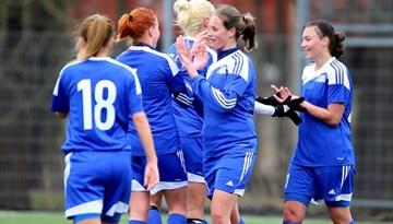 Rīgas Futbola skola svētdien var nodrošināt Sieviešu Futbola līgas čempionu titulu