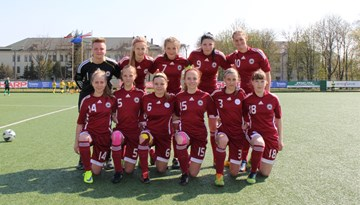 Latvijas U-18 meiteņu izlase noslēgusi dalību UEFA Attīstības turnīrā Kauņā