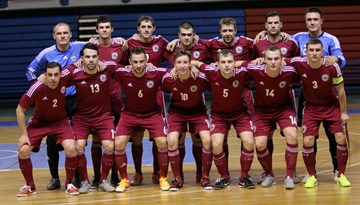 Latvijas telpu futbola izlase ar uzvaru startē FIFA Pasaules kausa kvalifikācijā