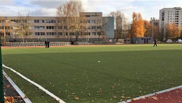 Šodien tiks apsekoti Rīgas Klasiskās ģimnāzijas sporta laukuma labiekārtošanas darbi