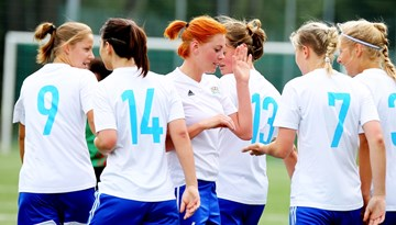 Rīgas Futbola skola šonedēļ startē UEFA Sieviešu čempionu līgas kvalifikācijas turnīrā Somijā