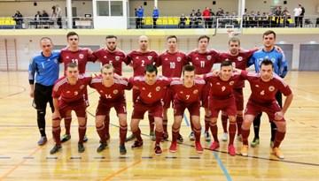 Latvijas telpu futbola izlase Baltijas Kausa aizstāvēšanu iesāk ar neizšķirtu