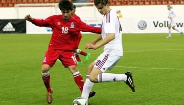 Latvijas U-18 izlase Granatkina turnīra pirmajā spēlē cīnās neizšķirti ar Azerbaidžānu