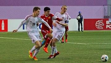 Pirmā uzvara Minskas turnīrā gūta pret Armēniju