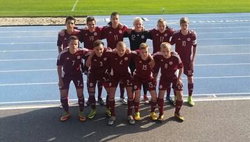 Latvijas U-16 izlase treniņnometni noslēdz ar uzvaru pār Igauniju