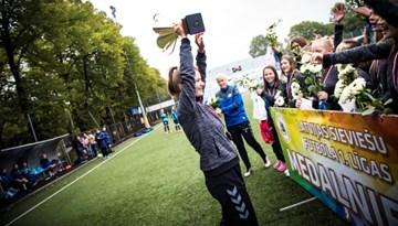 Noslēgušies Sieviešu futbola līgas un Sieviešu futbola 1. līgas čempionāti