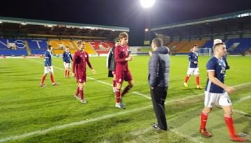 Latvijas U-21 izlase viesos cīnās neizšķirti ar Skotiju
