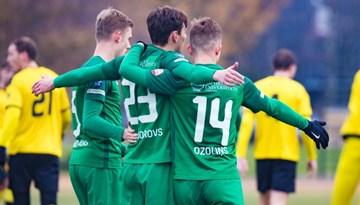 Otro gadu pēc kārtas FK Metta/LU pārspēlēs par vietu Virslīgā uzvar Olaines futbolistus