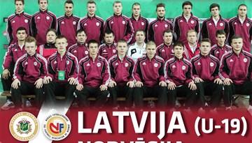 Latvijas U-19 jauniešu futbola izlase 5. un 7.augustā pārbaudes spēlēs Liepājā tiksies ar Norvēģiju