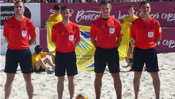 Eduards Borisevičs Barselonā apkalpojis vērienīga pludmales futbola turnīra spēles