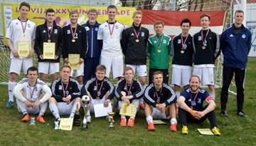 Latvijas Universiādes minifutbola sacensībās vēlreiz uzvar RTU sportisti