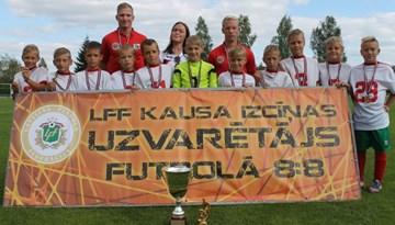 FK Liepāja/LSSS uzvar LFF Kausa izcīņas futbolā 8:8 jaunākajā grupā